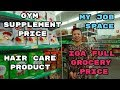 MY JOB SPACE | GYM SUPPLEMENT PRICE | GIRLS HAIR CARE PRODUCT | IGA GROCERY FULL PRICE