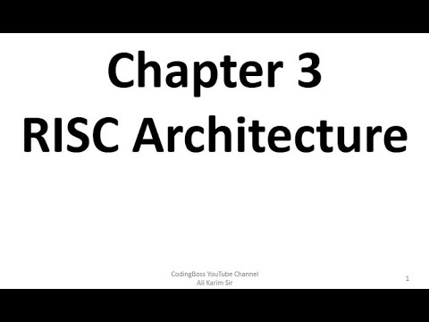 RISC Architecture Chapter 3 Notes MSBTE Advance
