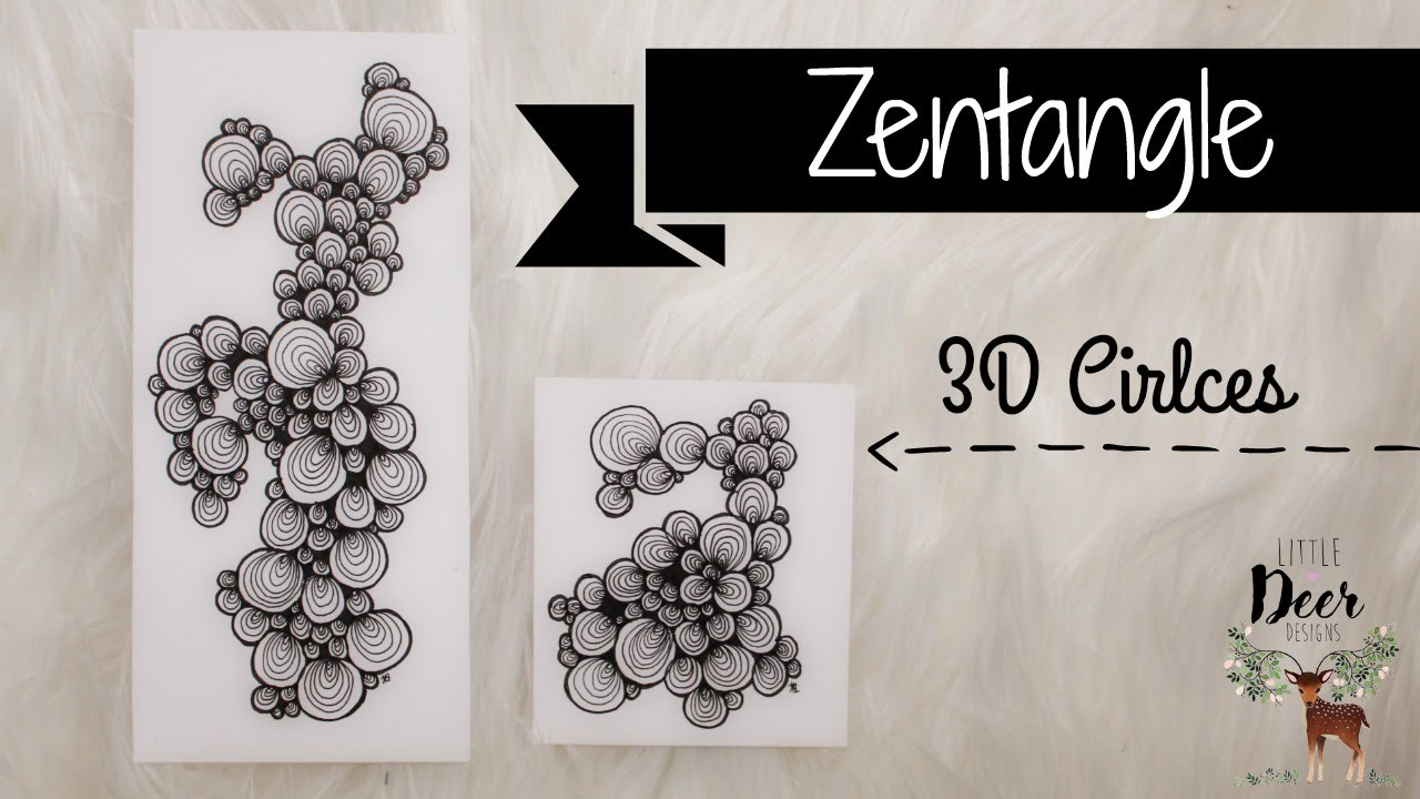 3D Cirlces|| Zentangle - YouTube