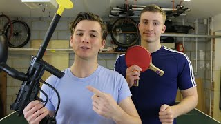 PAINTBALL GUN STING PONG | Challenge Pete