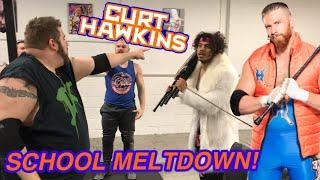 CURT HAWKINS WRESTLING SCHOOL MELTDOWN!
