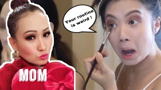 FOLLOWING MY VIET MOM'S MAKEUP ROUTINE