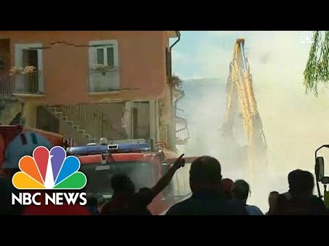 Cameras Capture Moment Aftershock Rattles Italy | NBC News