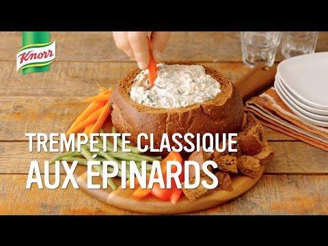 trempette-classique-aux-épinards- -qu'est-ce-qu'on-mange-knorr®