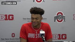 Ohio state quarterback justin fields on the buckeyes upcoming game at indiana after a big week two against cincinnati. #ohiostatefootball check out lettermen...