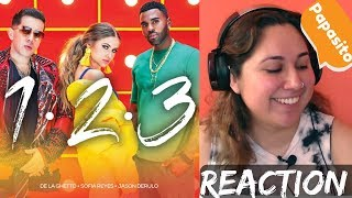 Reacting to JASON DERULO in 123 by Sofia Reyes ft De La Ghetto