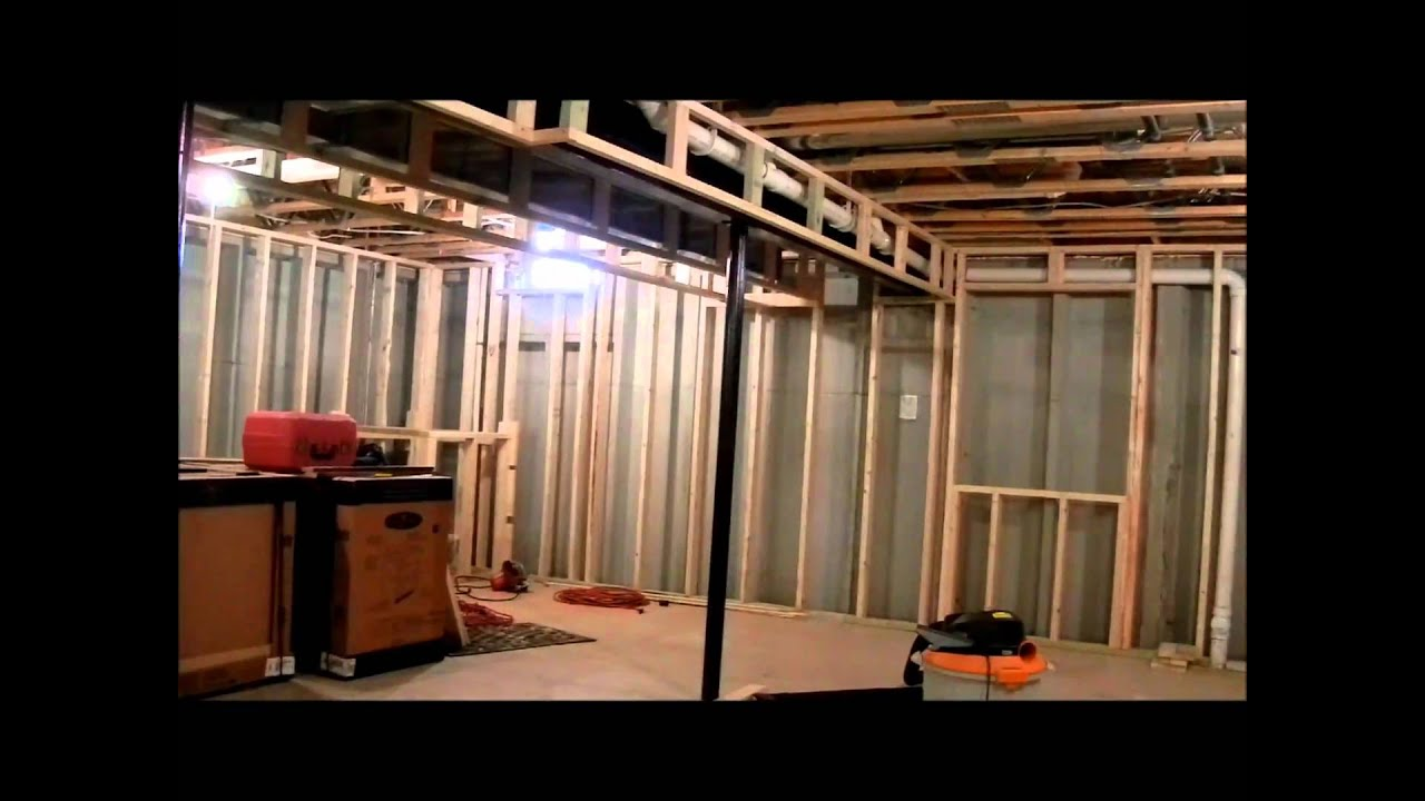 Mozariwskyj Basement Framing To Drywall Youtube