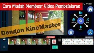 Cara Mudah Membuat Video Pembelajaran dengan HP dan Kinemaster, hasilnya seperti ruang guru.