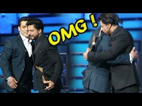 Shahrukh Khan - Salman Khan's Patch - Up Hug @ Star Guild Awards 2014 !