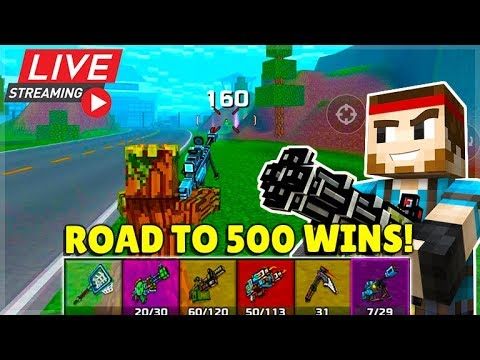 FIRST PERSON MODE IS BACK ROAD TO 500 BATTLE ROYALE WINS! | Pixel Gun 3D