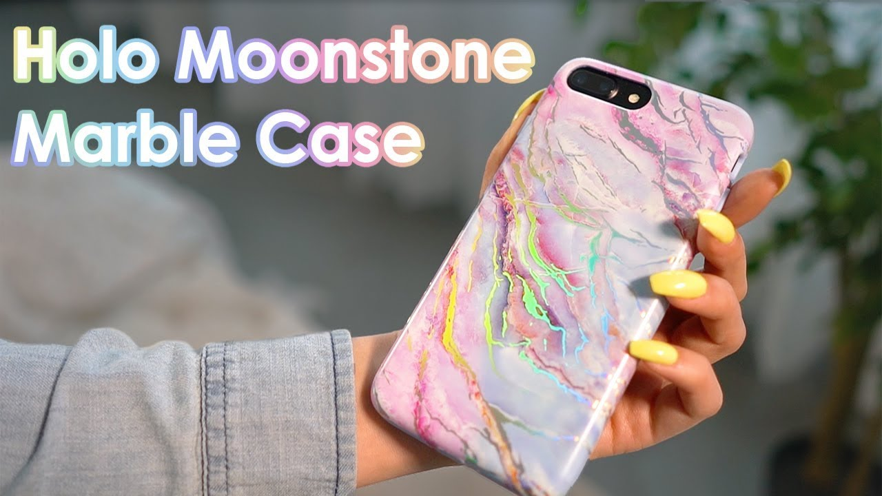 huge selection of 709fc daad9 Holo Moonstone Marble Phone Case by Velvet Caviar