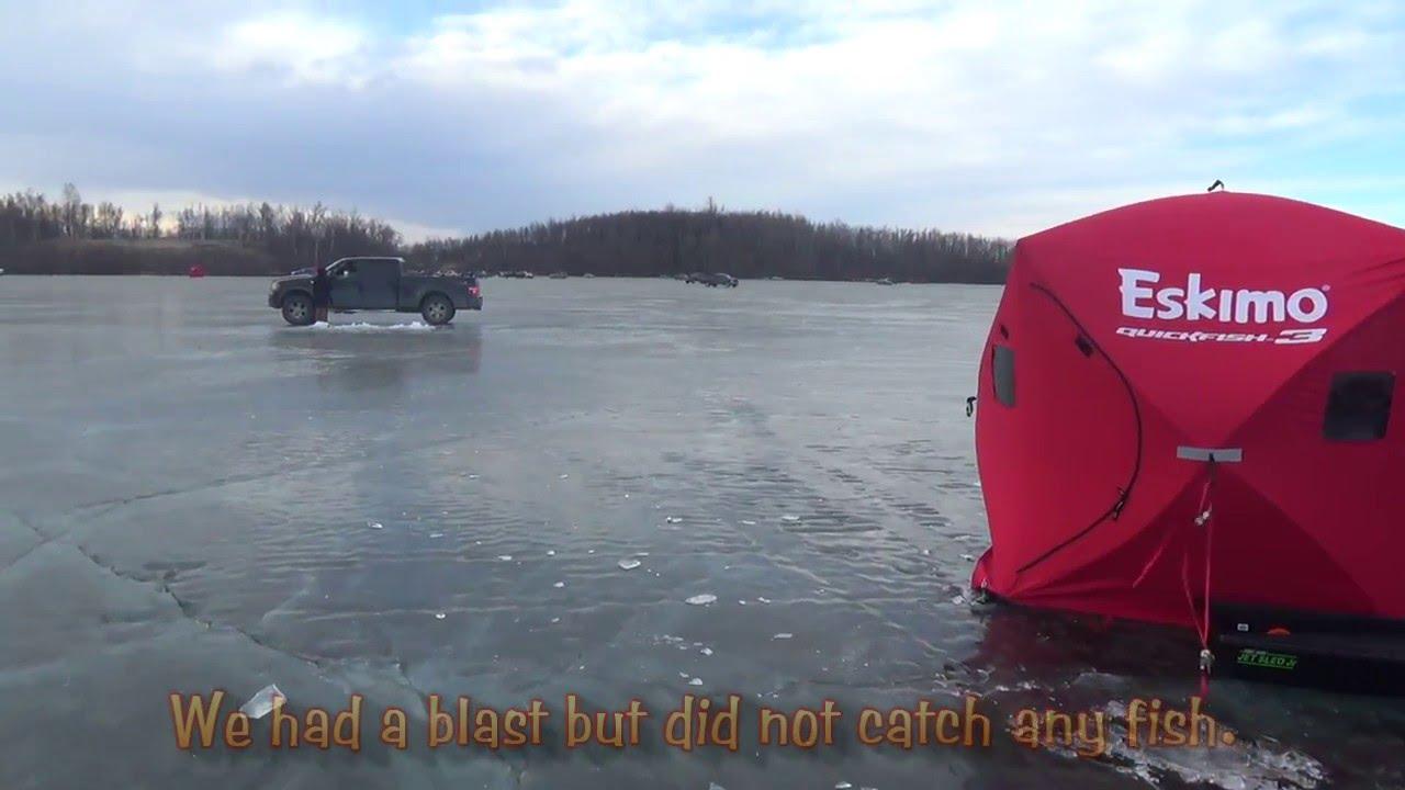 Ice fishing finger lake alaska youtube for Alaska out of state fishing license