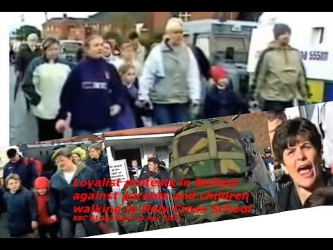 Holy Cross School Belfast Loyalist Protests Spotlight BBC NI 13 November 2001