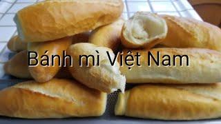 Cách làm bánh mì ViệtNam/How to make Vietnamese bread.