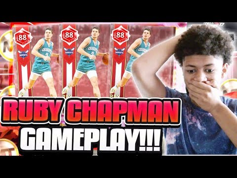 RUBY REX CHAPMAN IS THE MOST UNDERRATED CARD IN GAME! BEST SHOOTING GUARD IN MYTEAM! NBA 2K18 MYTEAM
