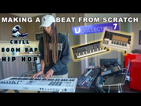 Making a chill beat from scratch with V Collection 7, KeyLab mkII 61 , DrumBrute Impact