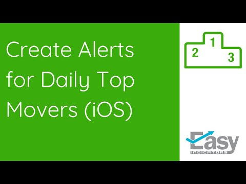 Create Alerts for Daily Top Movers Tool (iOS)