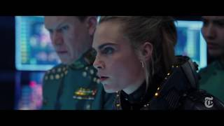 Luc Besson narrates a sequence featuring Dane DeHaan and Cara Delevingne. (The New York Times)