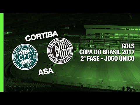 Gols - Coritiba 0 x 2 Asa-AL  Copa do Brasil - 23/02/2017
