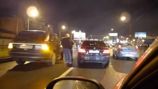 ДТП на Выборгском шоссе с участием сразу нескольких авто(Сведений о пострадавших нет., 2013-11-16T04:40:47.000Z)