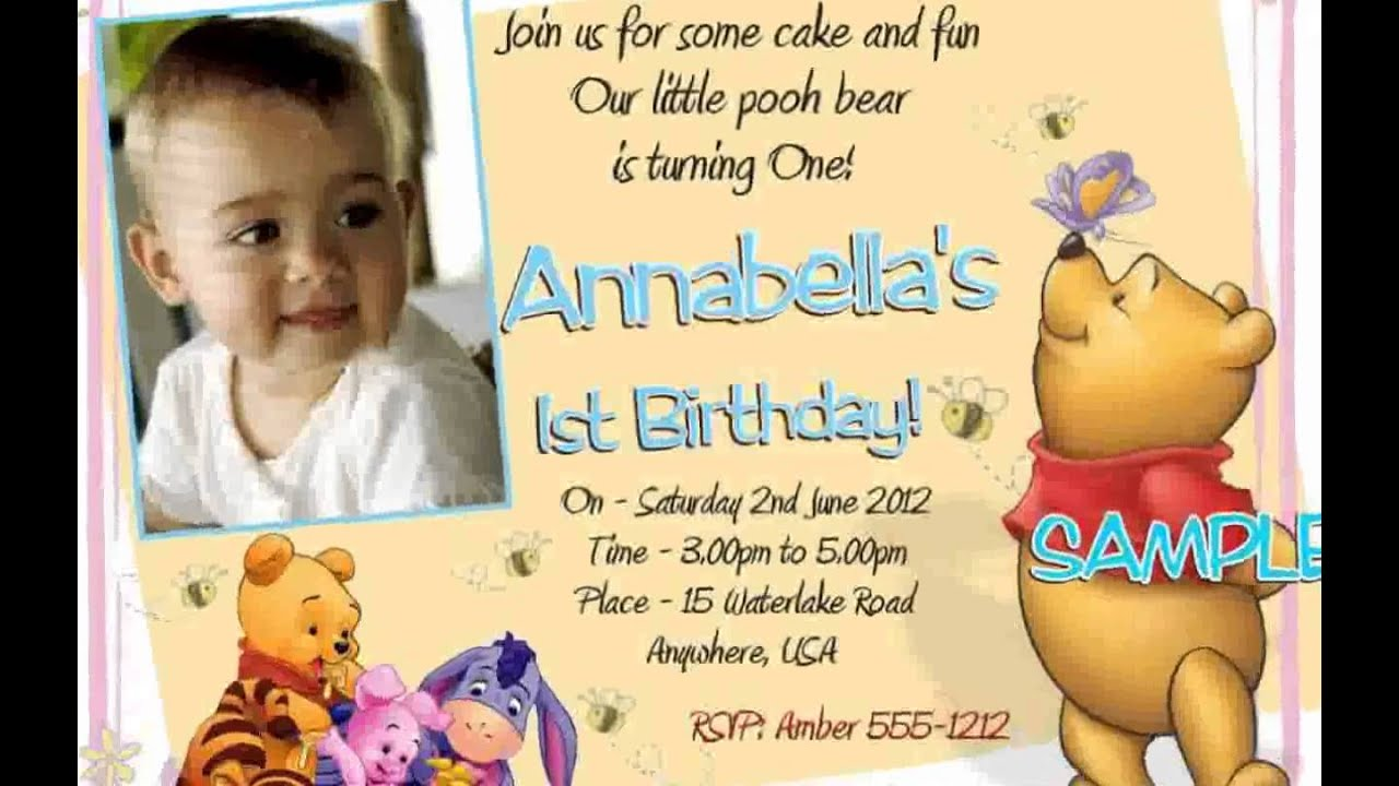 Winnie the pooh first birthday new youtube winnie the pooh first birthday new filmwisefo