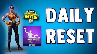 FORTNITE DAILY SKIN RESET - SQUAT KICK EMOTE - Fortnite Battle Royale Daily Items in Item Shop