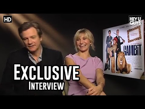 Cameron Diaz & Colin Firth Gambit Movie Exclusive Interview
