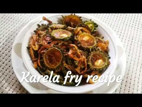 Crispy Karela Fry Recipe   क्रिस्पी करेला फ्राई रेसिपी    Bittergourd & Onion Fry Recipe