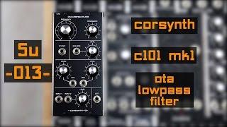 5u corsynth c101 mk1 ota lowpass filter