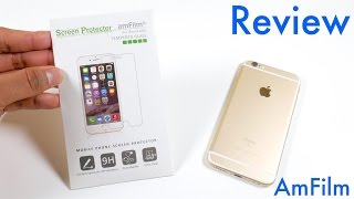 AmFilm Tempered Glass Screen Protector for iPhone 6S/6S Plus- Installation and Review