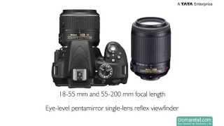 Nikon D3300 24.2 MP Digital SLR Camera (18-55 mm & 55-200 mm) (Black)