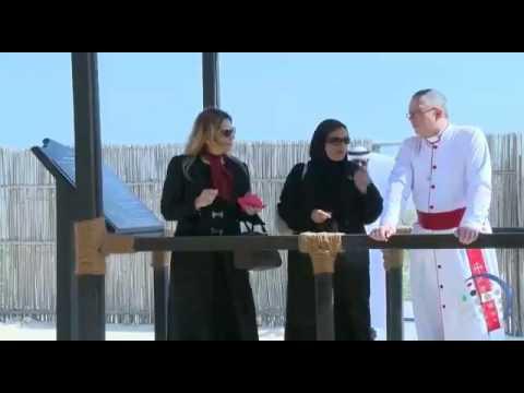 Sheikha Lubna Al Qasimi, & Christian Bishops of the Gulf visit Sir Bani Yas Island Church/Monastery