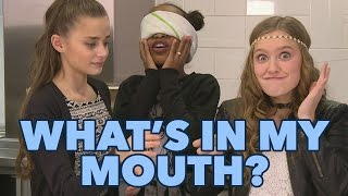 #67 WHAT'S IN MY MOUTH CHALLENGE| JUNIORSONGFESTIVAL.NL