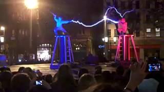 BEST Nikola Tesla REAL-LIFE EXPERIMENT: Two men + two Tesla coils = ELECTRICITY FIGHT!