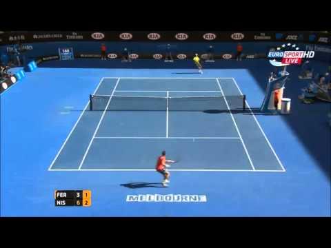 Kei Nishikori vs David Ferrer australian open 2015 highlights HD|| 26-1-2015