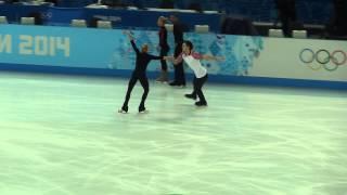 Tatiana Volosozhar and Maxim Trankov practice FD Sochi 2014 Winter Olympics (Olympic Games)