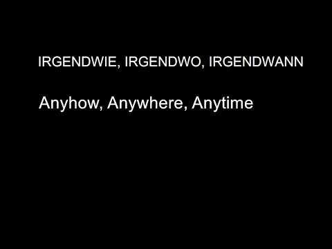 Nena-Irgendwie Irgendwo Irgendwann lyrics (English and German subtitles)