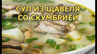Суп из скумбрии и щавеля