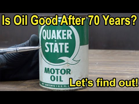 Is Oil Good After 70 Years?  Let's find out!