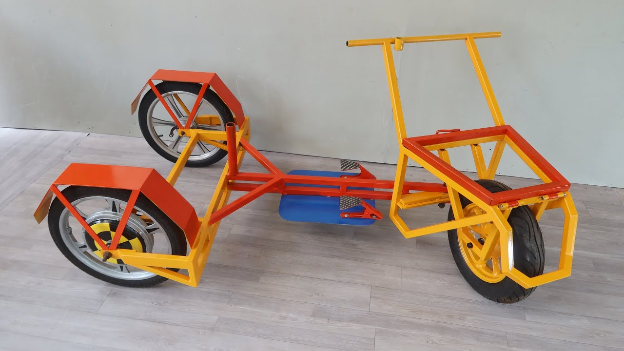 Download Build An Electric Wheelbarrow From Scrap For Workshop | New Design and Detail Implement For Everyone