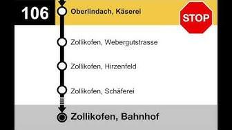 PostAuto Ansagen - 106 Bern Bahnhof-Zollikofen Bahnhof