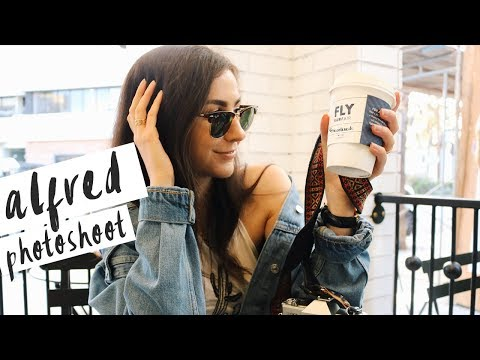 BTS: ALFRED COFFEE SHOP PHOTOSHOOT IN STUDIO CITY | QUEENSHIRIN