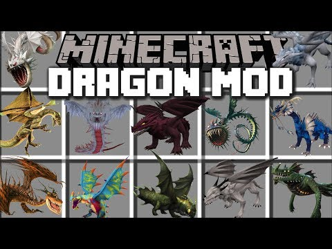 Minecraft DRAGON MOD / SPAWN AND BREED DRAGONS TO KILL MONSTERS!! Minecraft