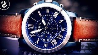 Review Đồng Hồ Fossil FS5151 mặt số xanh kiểu dáng 6 kim Chronograph