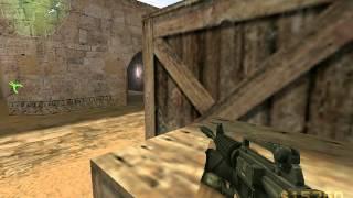 CounterStrike 1.8 CounterTerrorists gameplay on de_dust2