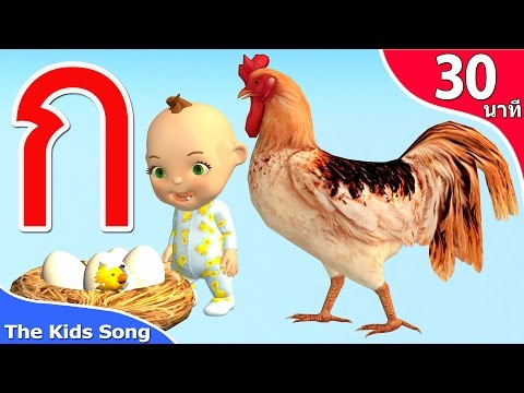 ก.ไก่ อนุบาล   ABC   เพลงช้าง รวมเพลงเด็ก 30 นาที - The Kids Song