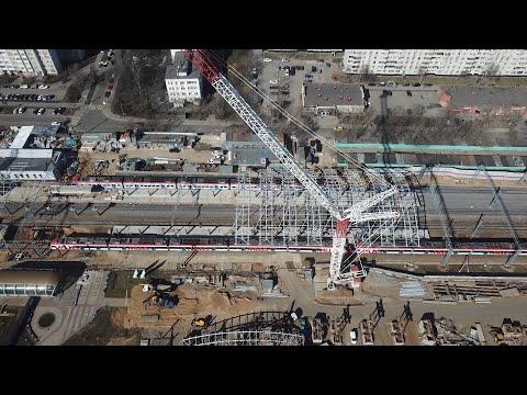 Славянский бульвар. Строительство станции МЦД. 25.03.2020