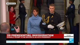 US Presidential Inauguration  First Lady to be Melania Trump arrives at Capitol Hill