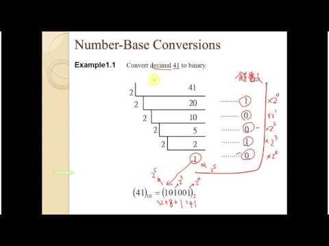 數位邏輯設計1 3 Number Base Conversions