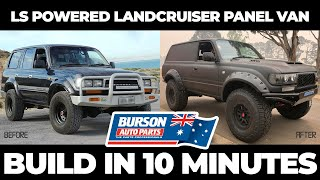 HOW TO build a Toyota 80 Series Landcruiser PANEL VAN in 10 MINUTES ⏱🍺